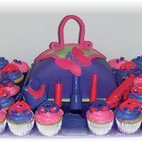"Glamour Girl Slumber Party This was made for a slumber party using the theme of the partyware. The purse is a 10"" contour cut in half with mmf accessories. The..."