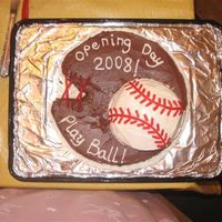 For My Sons Team Opening day ceremony auction cake for 2008 baseball season