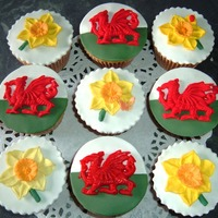 St. David's Day Cupcakes