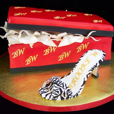 Zebra Print High Heel Shoe And Shoe Box